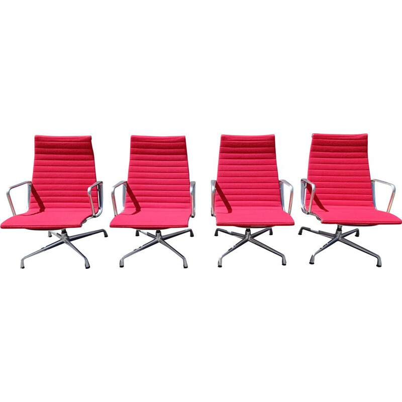 Set of 4 vintage armchairs EA116 by Charles Eames for Vitra, 1990s
