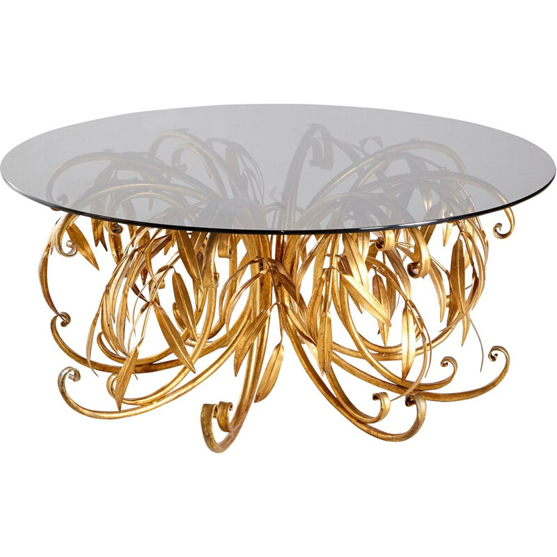 Vintage brass coffee table by Hans Kögl, Germany 1960