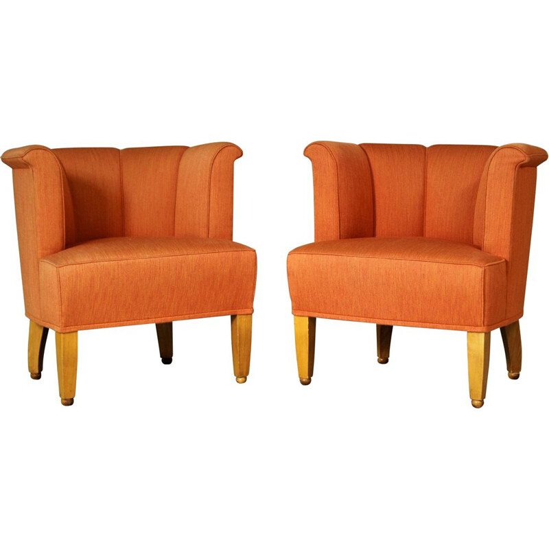 Pair of vintage Alleegasse easy chairs by Josef Hoffmann for Wittmann, 1990s