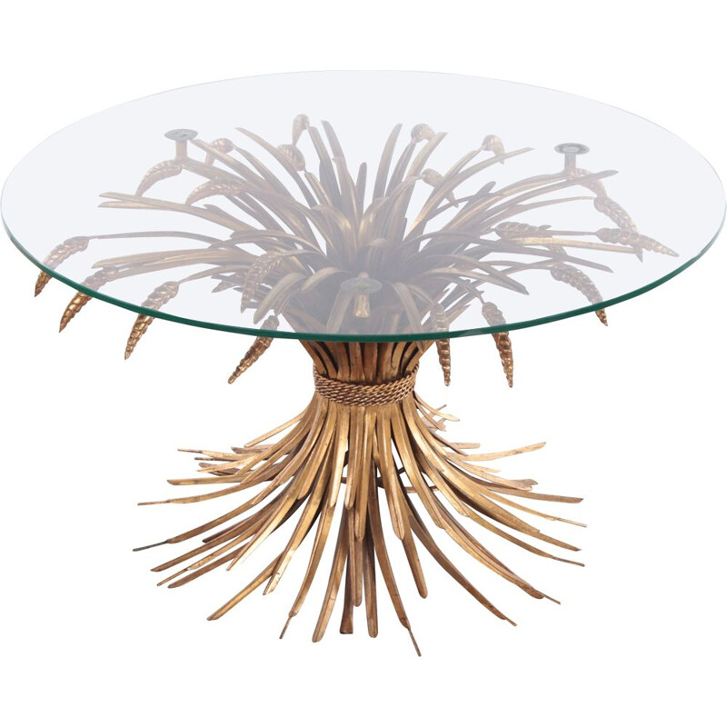 Hollywood Regency Coco Chanel vintage coffee table by Hans Kogl, Germany 1970s