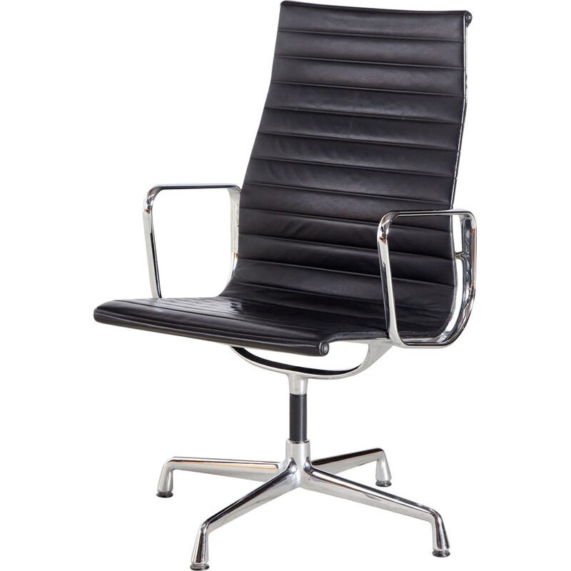Vintage EA112 office swivel armchair by Charles & Ray Eames