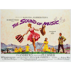 """British """"The Sound of Music"""" film poster, Howard TERPNING - 1965"""
