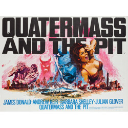 """British """"Quatermass and the Pit"""" poster, Tom CHANTRELL - 1967"""