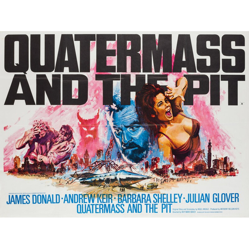 "British ""Quatermass and the Pit"" poster, Tom CHANTRELL - 1967"