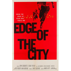 """""""Edge of the City"""" film poster, Saul BASS - 1957"""