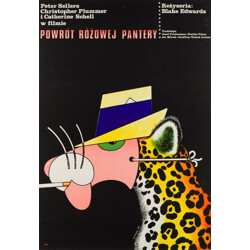 "Polish ""The Return of the Pink Panther"" film poster, Edward LUTCZYN - 1977"