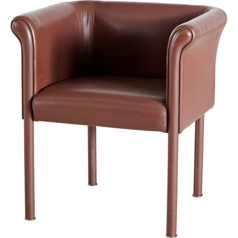 Leather vintage armchair by Antonio Citterio for Moroso, Italy