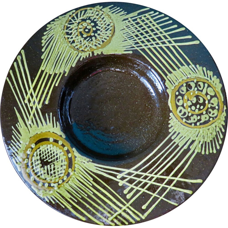 Vintage stoneware dish by Olle Alberius, Sweden 1965