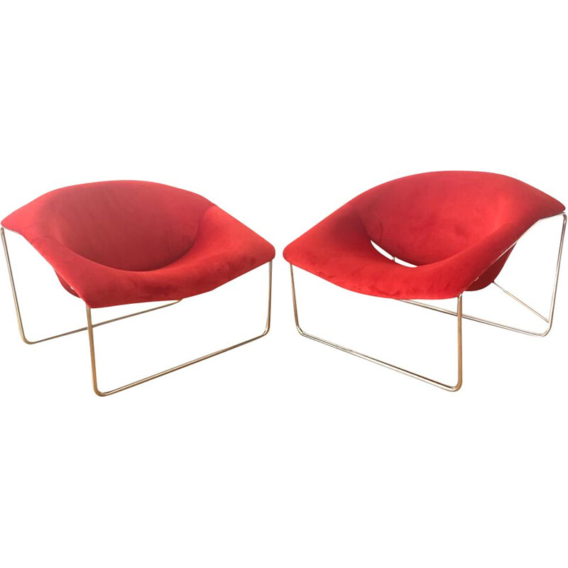Pair of cubic armchairs by Olivier Mourgue for Airborne, 1960s