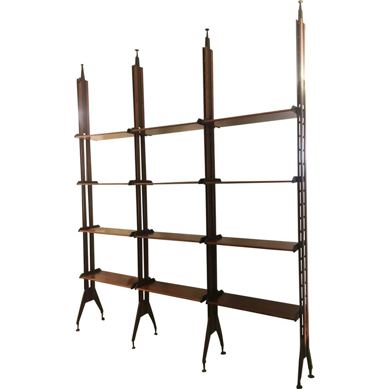 Vintage rosewood bookcase by Franco Albini, 1970