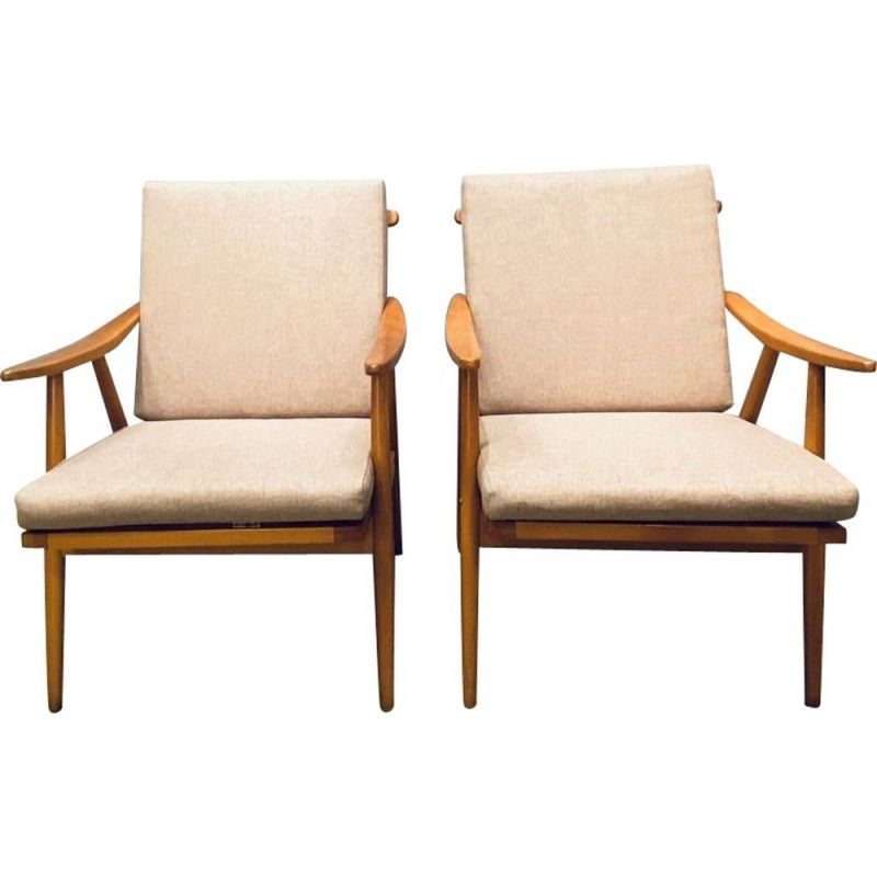 Pair of vintage armchairs by Thonet, Czechoslovak 1960s