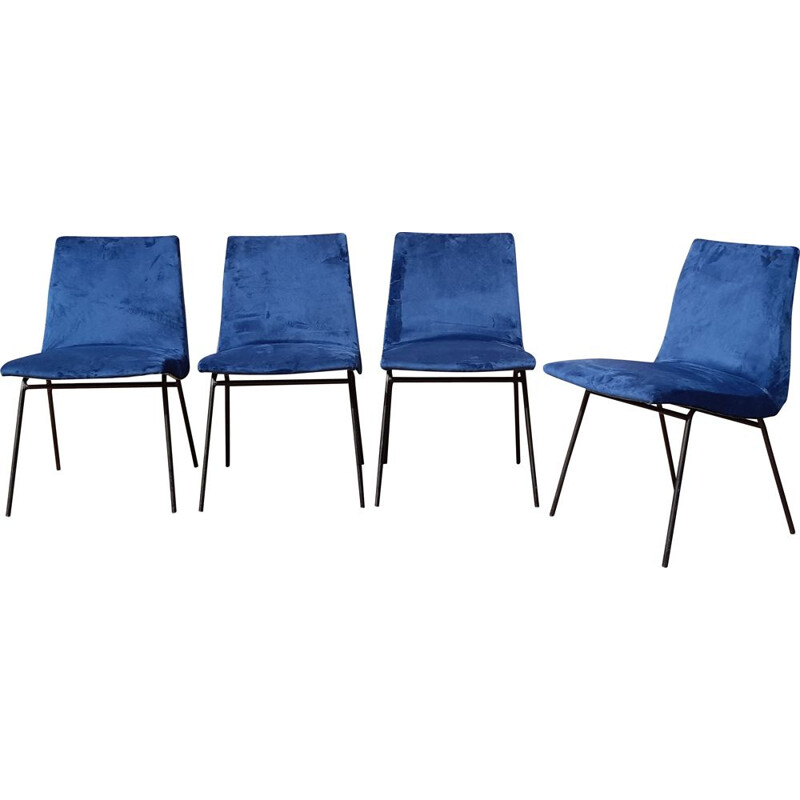 Set of 4 vintage chairs by Pierre Paulin for Meuble TV, 1950s
