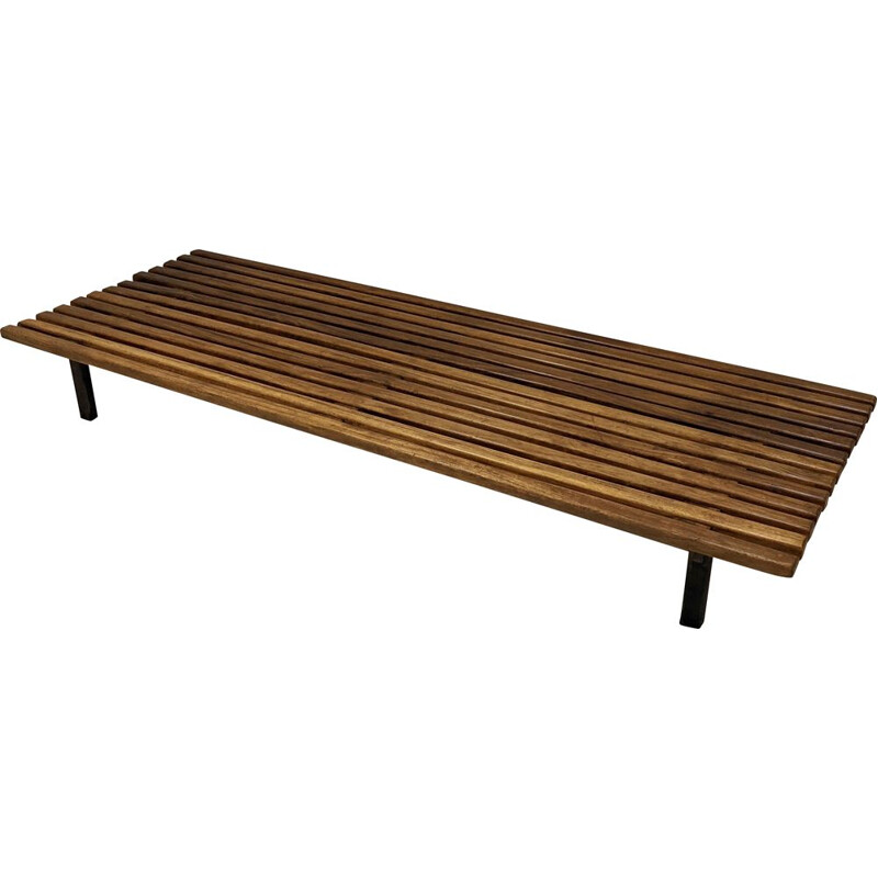 Vintage Cansado bench by Charlotte Perriand, 1954