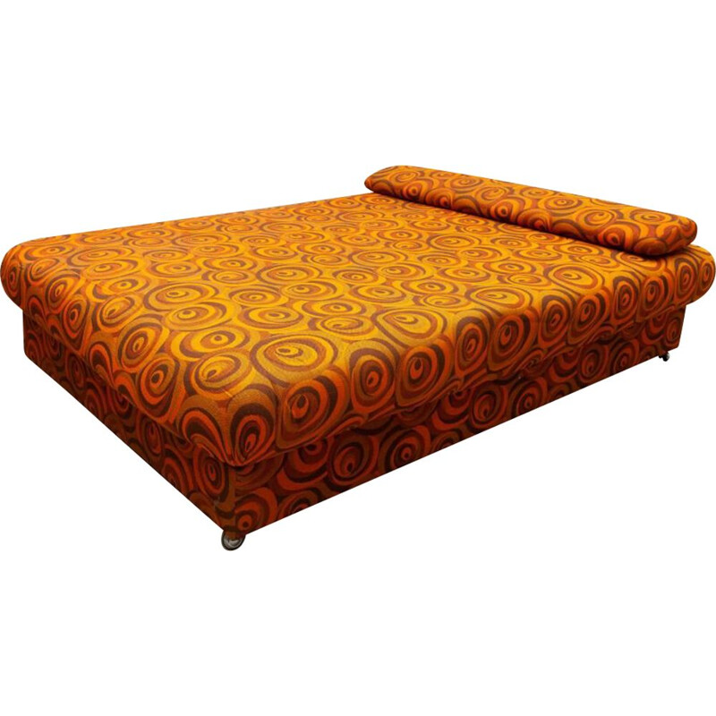Vintage psychedelic daybed with chest, Germany 1970s