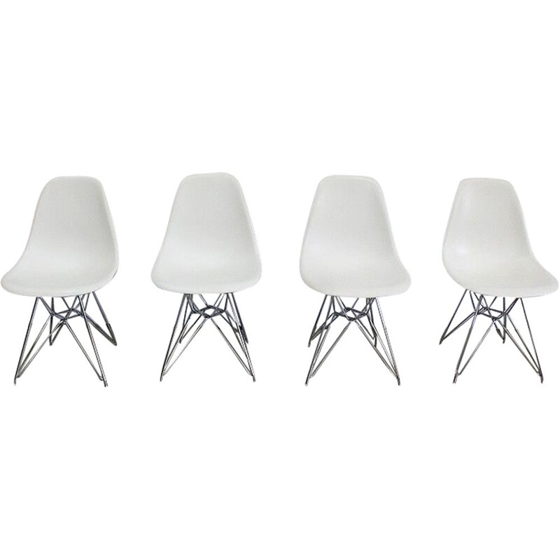 Set of 4 vintage chairs model DSR by Ray and Charles Eames for Vitra, 1960s