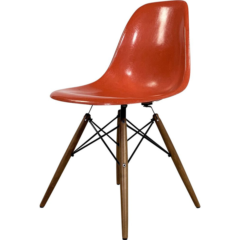 Coral DSW vintage dining chair by Charles & Ray Eames for Herman Miller, 1970s