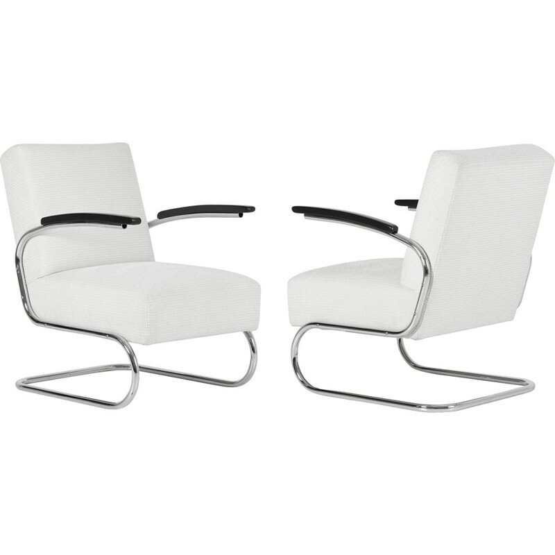 Pair of vintage armchairs S411 by W.H. Gispen for Mücke & Melder, 1930