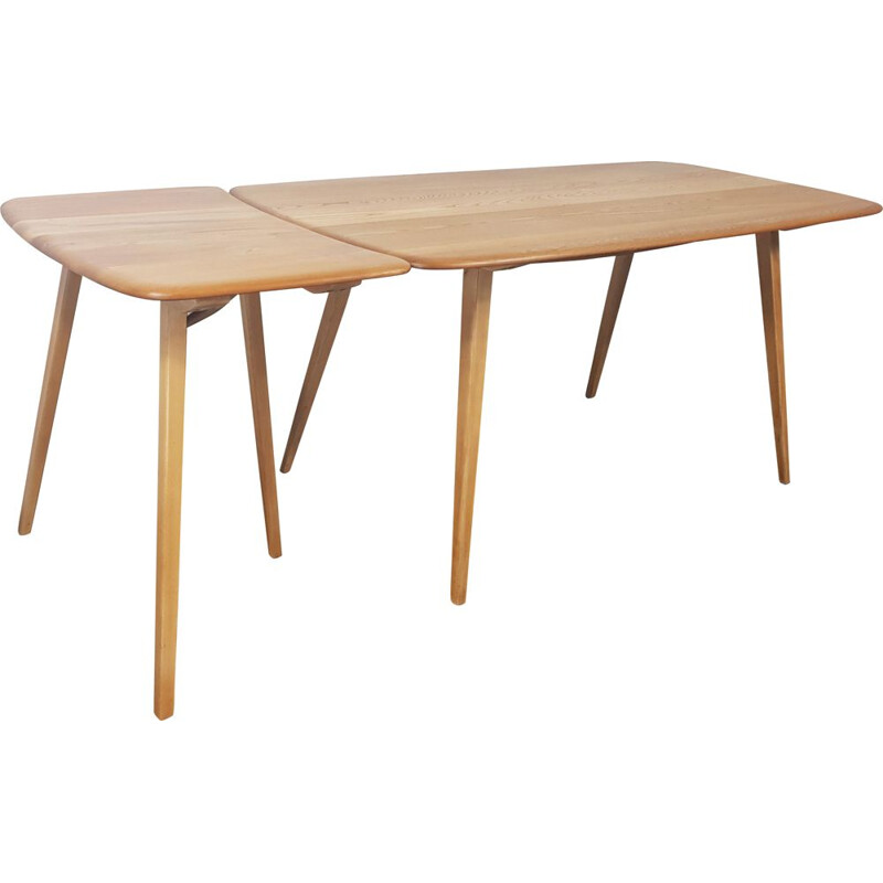 Vintage Plank solid elmwood extension table by Ercol, 1960s