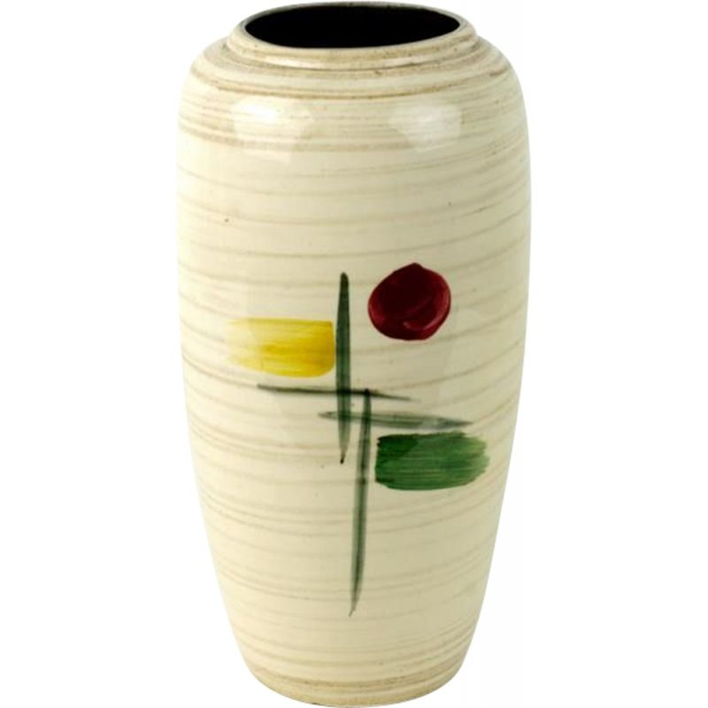 Vintage vase with abstract pattern