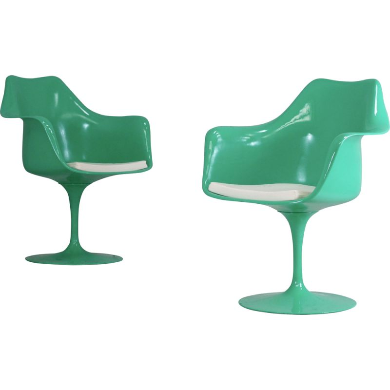 Pair of vintage Tulip swivel chairs for Knoll International, USA 1960s