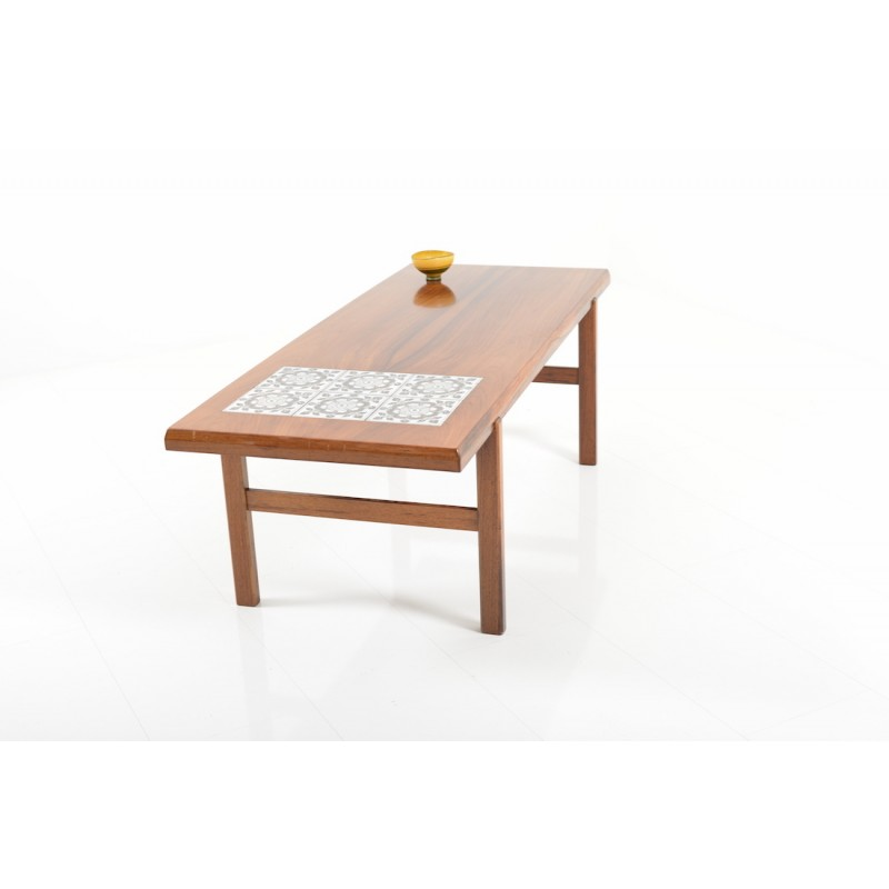 Danish Coffee Table In Rosewood With Tile Inlay S Design Market - Coffee table with tile inlay