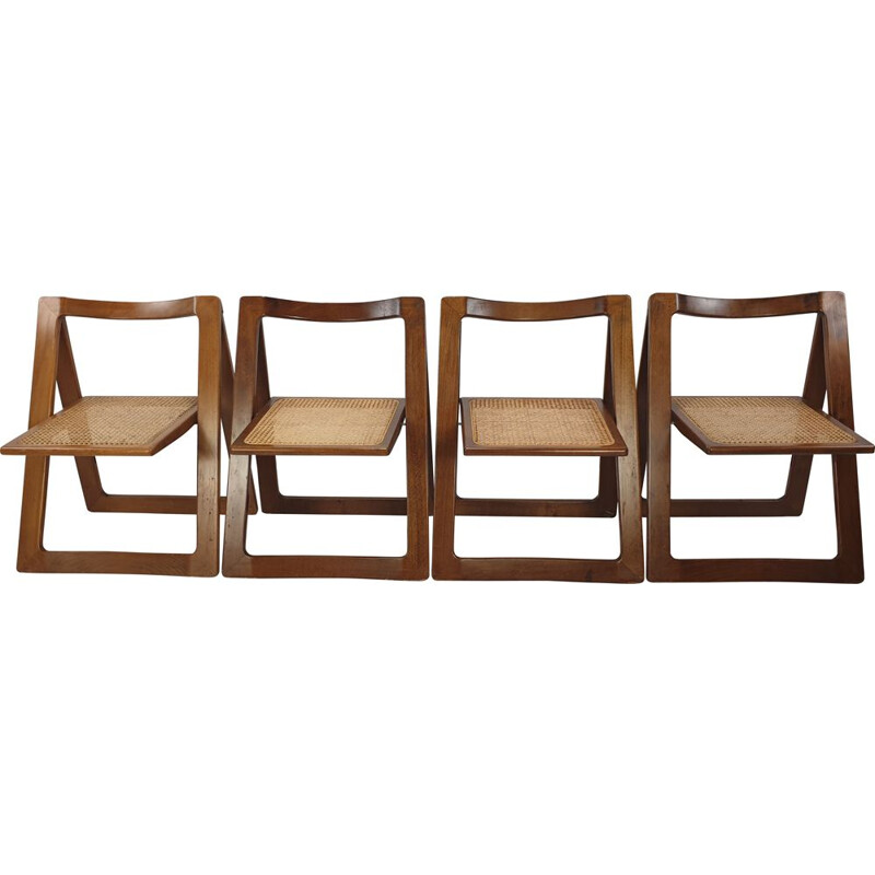 Mid-century set of 4 folding chairs by Jacober & d'Aniello for Bazzani, 1966