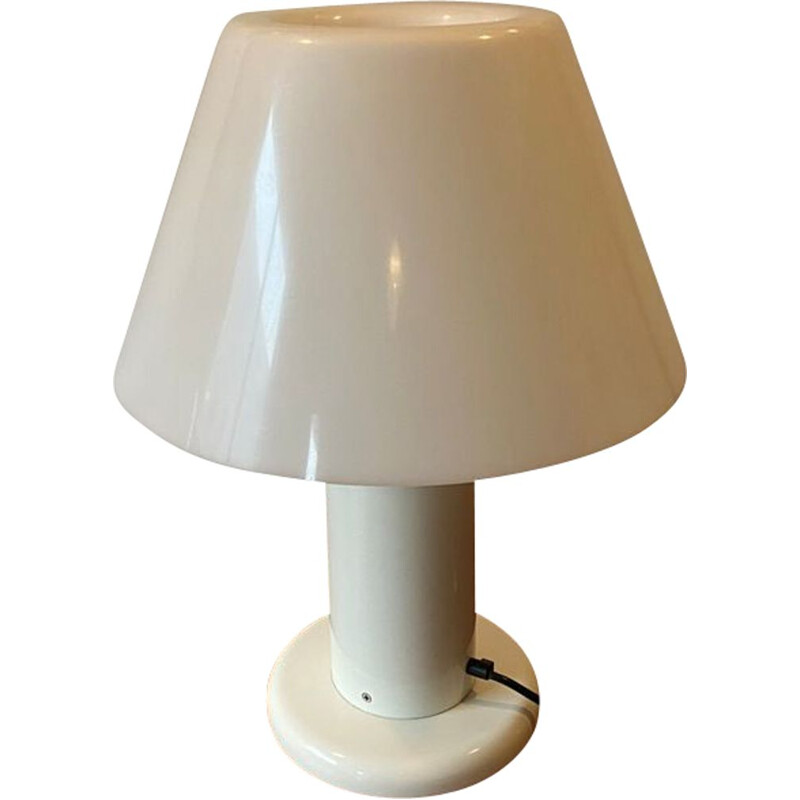 Vintage white lacquered metal lamp by Guzzini, 1970s