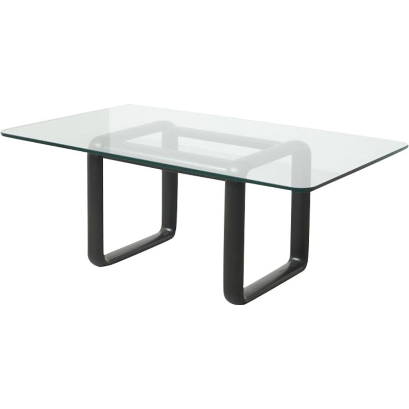 Mid century glass dining table by Burkhard Vogtherr for Rosenthal Studio-line, Germany 1970s