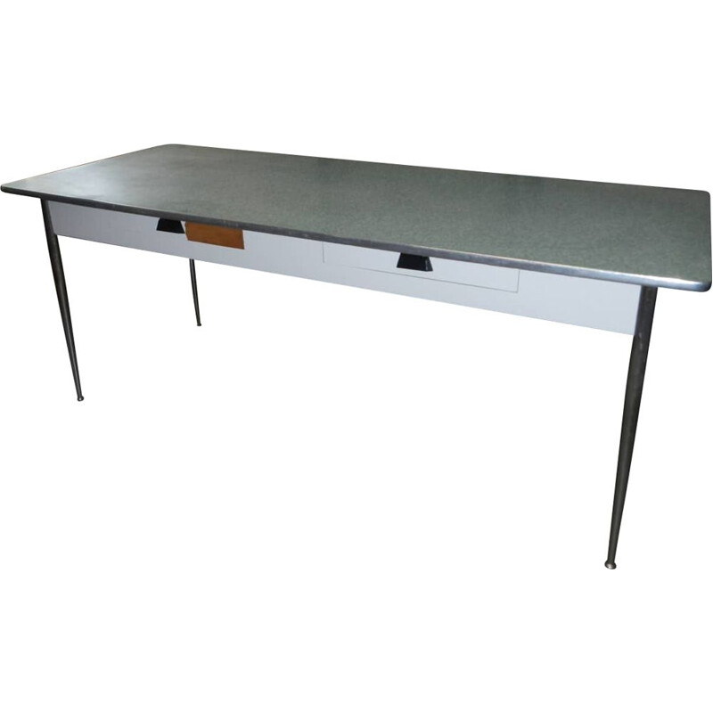 Vintage formica table with drawers