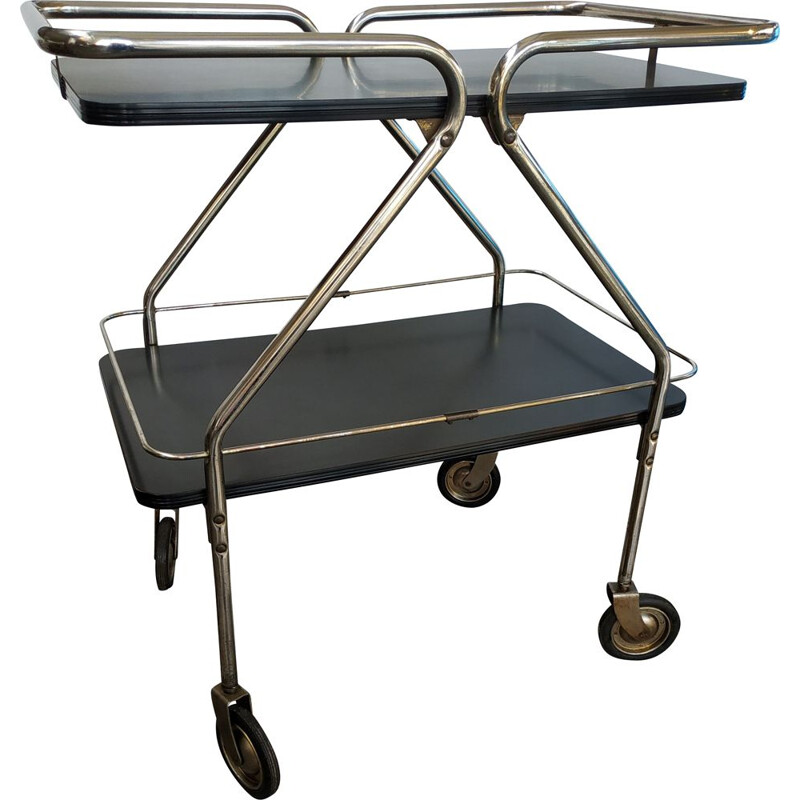 Vintage silver and black trolley, USA 1950