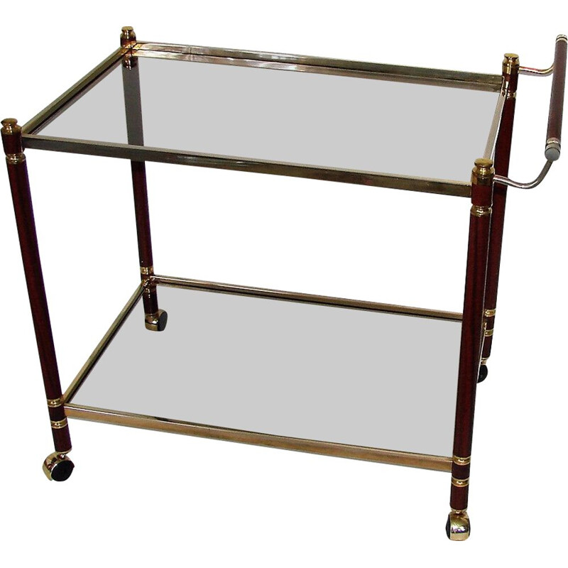Vintage brass and metal trolley, 1960