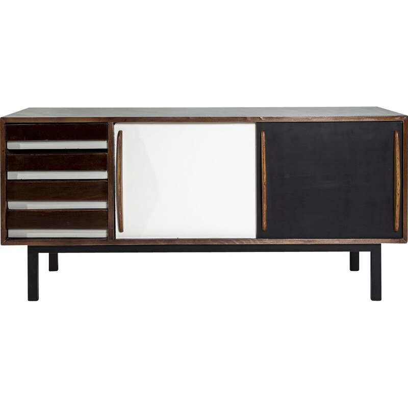 Vintage Cansado sideboard in ashwood by Charlotte Perriand for Steph Simon, 1950s