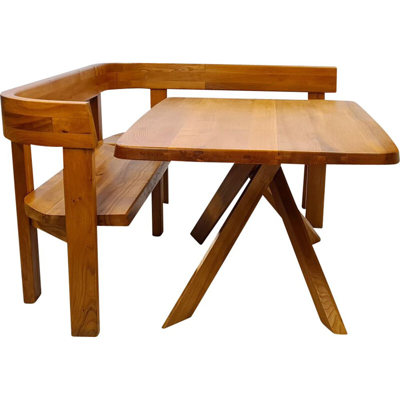 Vintage dining set by Pierre Chapo