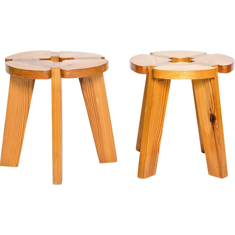 Pair of vintage stools by Lisa Johanson-Pape, Finland 1960s