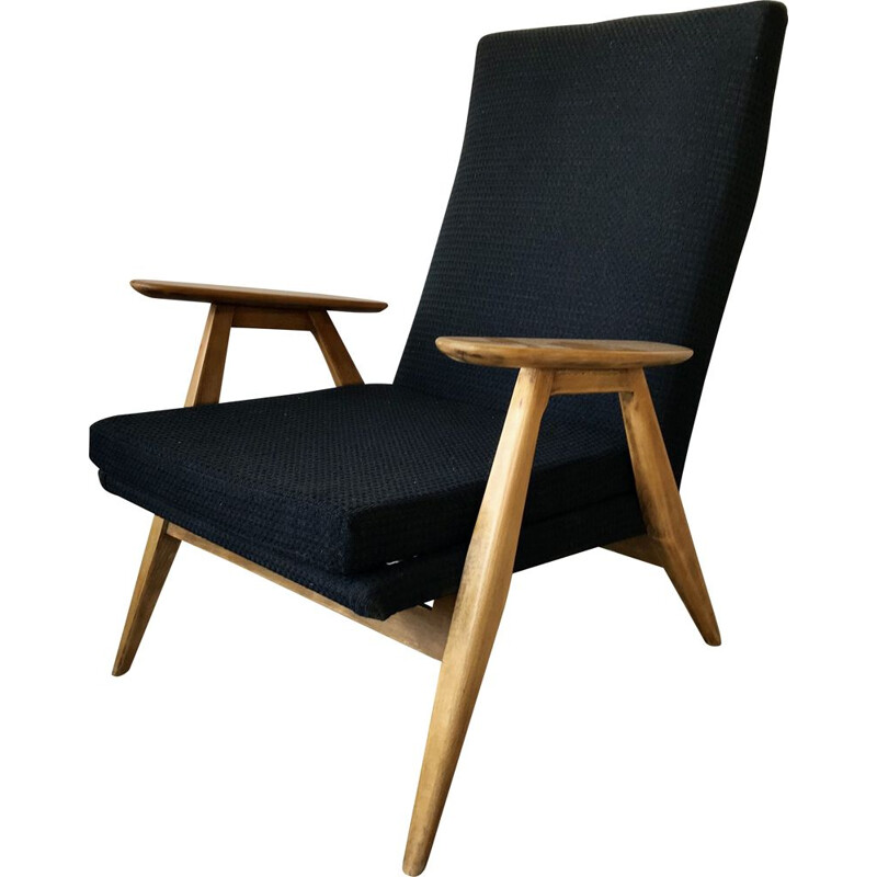 Vintage armchair SK 640 by Pierre Guariche for Steiner, 1950s