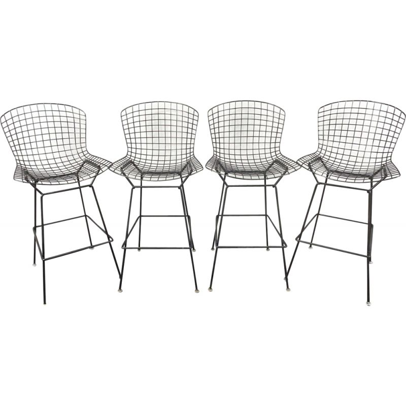 Set of 4 vintage bar stools by Harry Bertoia for Knoll International, USA 1960