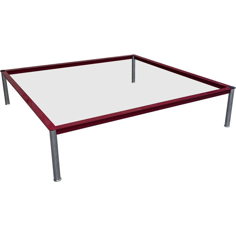 Vintage coffee table model LC10 by Le Corbusier for Cassina, 1980