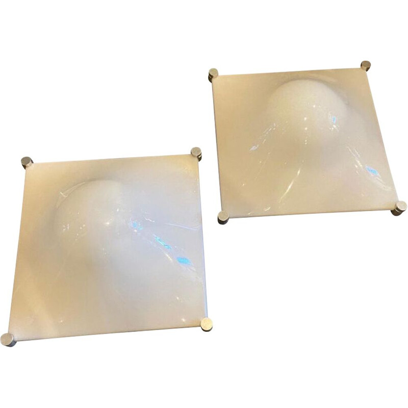 Pair of vintag Bolla wall lamps by Elio Martinelli, 1960s