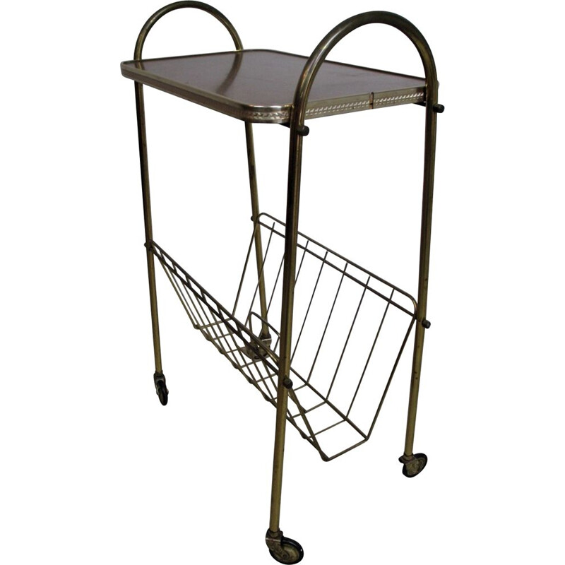Mid century trolley with magiazine rack, Germany 1950s