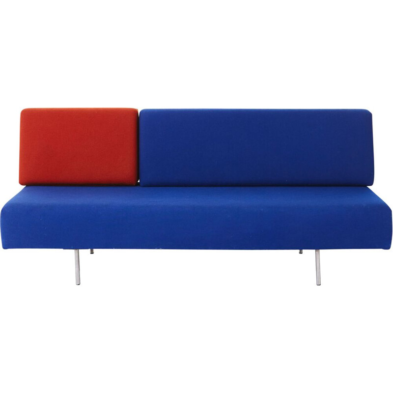 Vintage 169 blue and red sofa by Kho Liang Le for Artifort, 1958