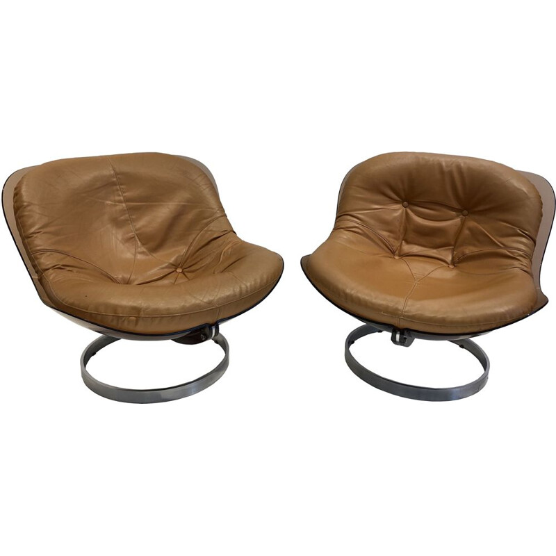 Pair of vintage armchairs by Boris Tabacoff, 1971