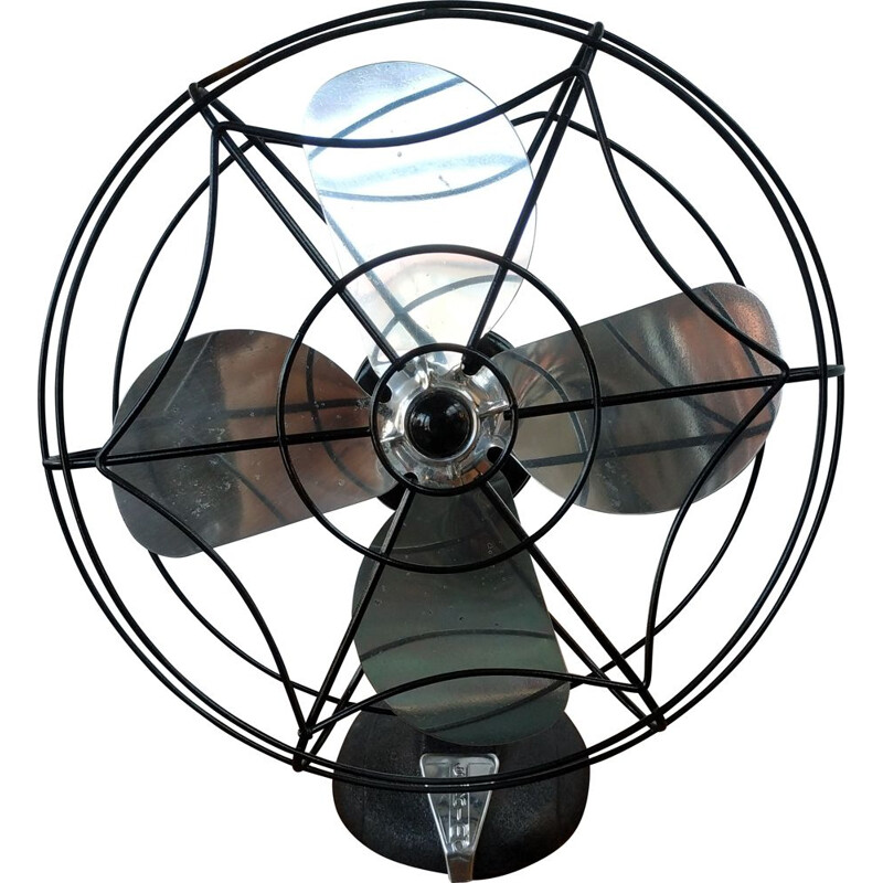 Vintage industrial Eskimo fan from Bersted Mfg. Co, USA 1950