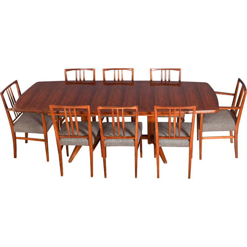 Mahogany and rosewood vintage meal set by W H Russell for Gordon Russell