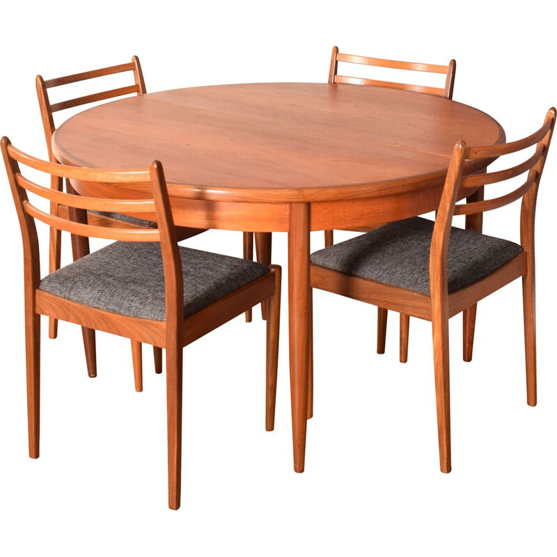 Vintage teak round meal set by by Victor Wilkins for G Plan