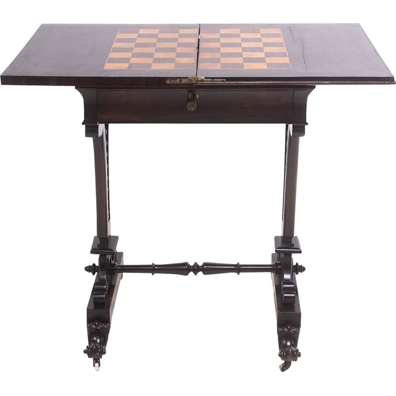 19th century victorian rosewood chess table