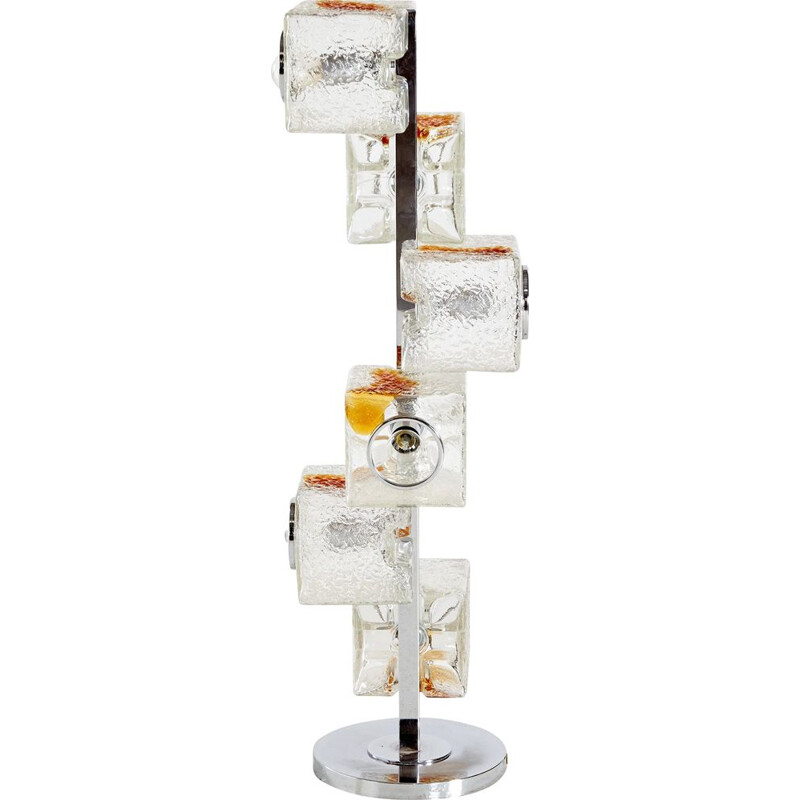 Vintage glass floor lamp by Toni Zuccheri for VeArt, Italy 1970