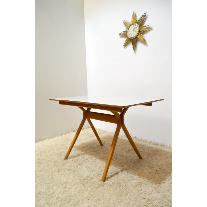 Table Top 1955: Kandya Dining Table In Beech Wood, Franck GUILLE