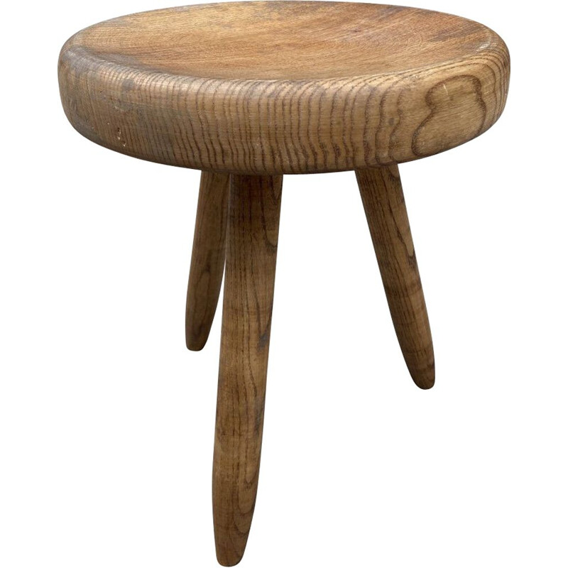 Vintage high shepherd's stool by Charlotte Perriand, 1969