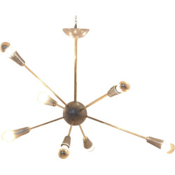 Sputnik chandelier in brass - 1950s
