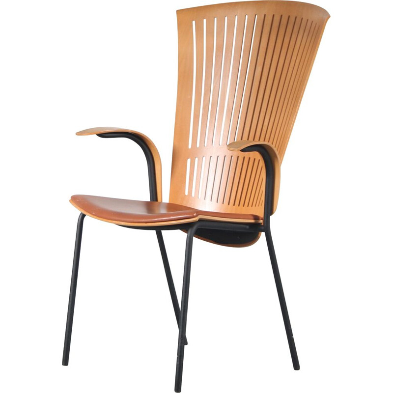 Vintage chair with armrests by Nanna Ditzel for Fredericia, Denmark 1980